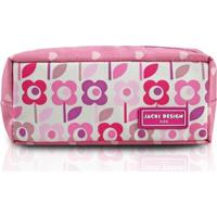 Estojo Infantil Jacki Design Flor Microfibra Feminina - Feminino-Rosa