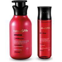 Combo Nativa Spa Ameixa: Hidratante Corporal, 400 Ml + Body Splash, 200L Ml
