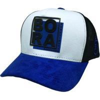 Boné Bora Trucker Quadrado - Unissex-Azul