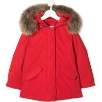 Woolrich Kids Parka Matelassê Arctic Com Capuz - Vermelho