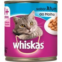 Ração Para Gatos Whiskas Adulto 1+ Anos Sabor Atum Ao Molho Lata Com 290G