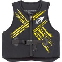 Colete Homologado Classe V Salva Vidas - Masculino-Preto+Amarelo