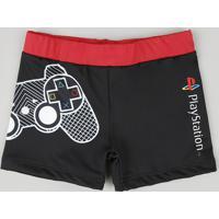 Sunga Infantil Playstation Boxer Preta