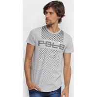 ... Camiseta Rg 518 Estampa Metalizada Geométrico Masculina - Masculino fc17945804484