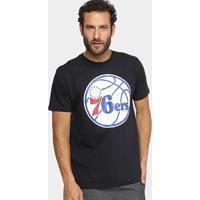 Camiseta Nba Philadelphia 76Ers Masculina - Masculino-Preto
