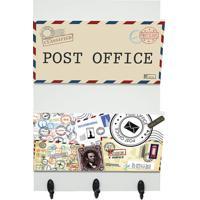 """Porta Cartas """"Post Office""""- Off White & Preto- 30X20Kapos"""