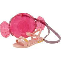 Kit Sandália Barbie + Bolsa Candy Grendene Kids - 22492 Rosa 23/24