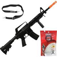 Rifle Airsoft M4 M16 Spring + Bandoleira + Bb 0.20G Promoção - Unissex