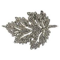 Bracelete Folha Marcassita - Prata