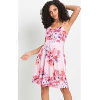 Vestido De Alcinhas Floral Rosa
