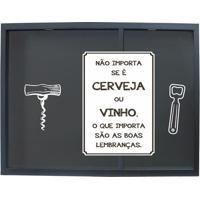 """Porta Rolhas & Tampinhas """"Cerveja Ou Vinho""""- Preto & Brakapos"""