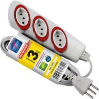 Extensão Elétrica No Schock 3M 3 Tomadas 2P T 10A 250V Dn1712 Daneva