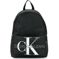 Calvin Klein Kids Logo Print Backpack - Preto