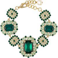 Dolce & Gabbana Pulseira Com Aplicação De Cristais - Verde