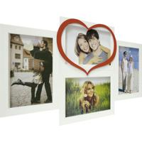 Painel Love Para Parede 4 Fotos Branco Com Vermelho 61071