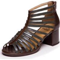 Sandalia Gladiadora Verde Folha / Chocolate - Grace Kelly 5861