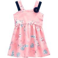 Vestido Floral - Rosa Claro & Azul Marinho- Kids