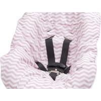 Capa Protetora Para Bebê Conforto Chevron Rosa Tribeca Enxovais Rosa