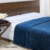 Cobertor Bordado Super King Size- Azul Marinho- 240Xniazitex