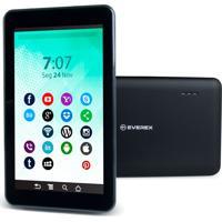 Tablet 7Pol. Quadcore 1Gb 8Gb Android 8.1 Go Preto Everex
