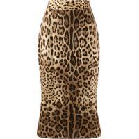 Dolce & Gabbana Saia Animal Print - Neutro