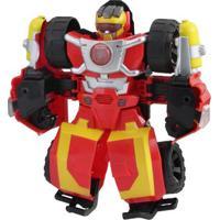 Boneco Transformável - 25 Cm - Transformers - Rescue Bots Academy - Electronic Hot Shot - Hasbro