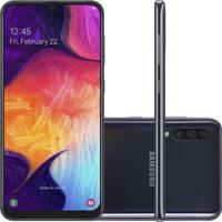 "Smartphone Samsung Galaxy A50 64Gb 6.4"" 4Gb Ram Câmera Traseira Tripl"