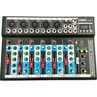 Mesa De Som 6 Canais Mixer Bluetooth Mp3 Player Usb Bivolt