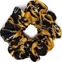 Versace Scrunchie Com Estampa Barroca - Preto