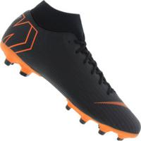 Chuteira De Campo Nike Mercurial Superfly 6 Academy Mg - Adulto - Preto/Laranja Esc