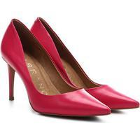 Scarpin Couro Carrano Salto Médio Básico - Feminino-Pink