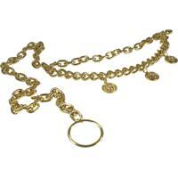 Cinto Higher Medalhas Donatella Dourada - Dourado - Feminino - Dafiti