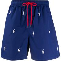 Polo Ralph Lauren Polo Pony Embroidered Swim Shorts - Azul