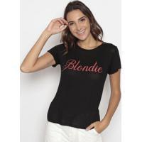 "Blusa Devorê ""Blondie""- Preta & Vermelha- Cavallaricavalari"