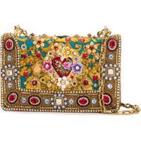 Dolce & Gabbana Bolsa Tiracolo Com Aplicações - Dourado
