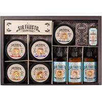 Kit Sir Fausto Grande Pós-Barba + Shampoo + Óleo + Creme + Pomadas - Masculino-Incolor