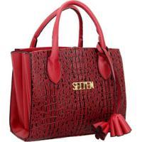 Bolsa Selten Handbag Sanfonada Feminina - Feminino-Vermelho