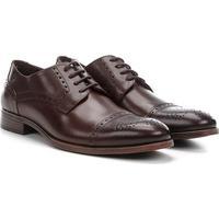 Sapato Social Couro Democrata Apolo Masculino - Masculino-Marrom Escuro