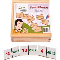 Dominó Educativo Divisão Jogo Com 28 Peças - Fundamental