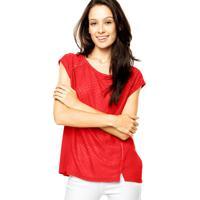 Blusa Facinelli Bordado Vermelha