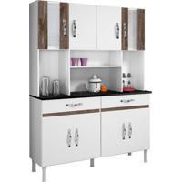 Cozinha Compacta Ventura 8 Pt 2 Gv Branco E Chocolate