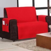 Protetor De Sofá Home 2 E 3 Lugares Vermelho Matelado Mais Duravel Com 2 Peças - Aquarela