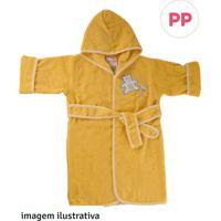 Roupão Baby Pp Amarelo - Pp