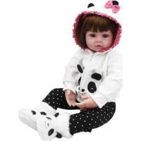 Boneca Reborn Laura Baby Babi Com Acessórios - Feminino-Colorido