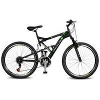 Bicicleta Kyklos Aro 26 Caballu 7.8 Suspensão Full Baixa A-36 21V Preto/Verde