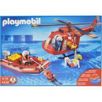 Playmobil - Equipe De Resgate Com Helicóptero E Bote - 4428 - Sunny