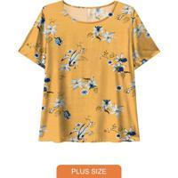 Blusa Tecido Estampada Amarelo