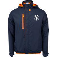 Jaqueta Com Capuz New Era Neon New York Yankees - Masculina - Azul Escuro