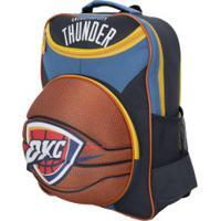 Mochila Nba Oklahoma City Thunder 3D Bola - Infantil - Azul/Amarelo