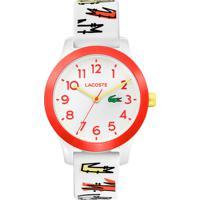 Relógio Lacoste Infantil Borracha Branca - 2030018